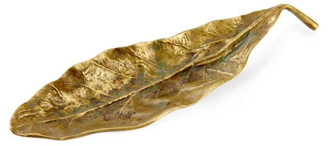 Brass Tobacco-Leaf Dish