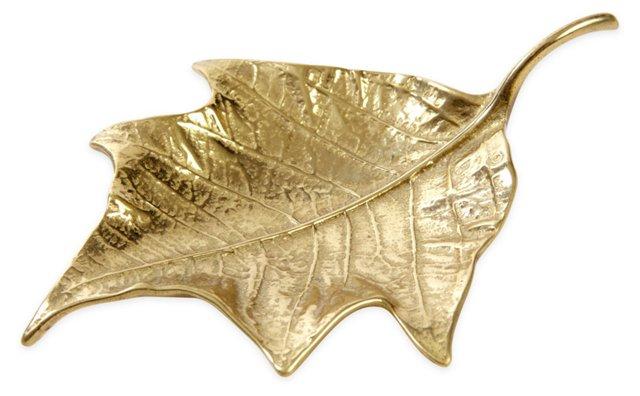 Brass Poinsettia-Leaf Dish