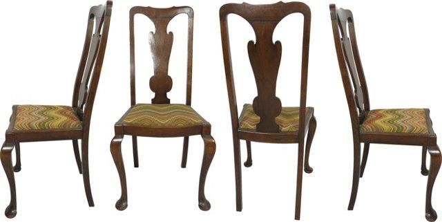 Oak Side Chairs, Set of 4