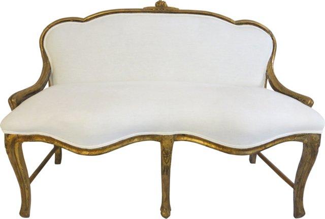 Venetian-Style Giltwood Settee