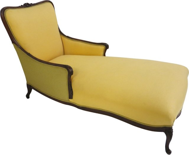19th-C. French Chaise Lounge
