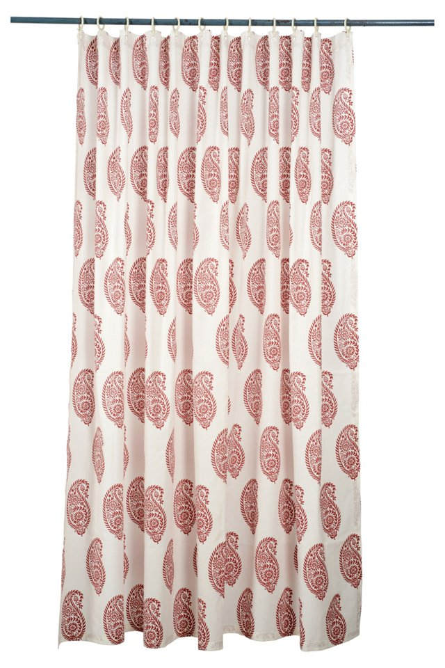 Ikat Paisley Shower Curtain