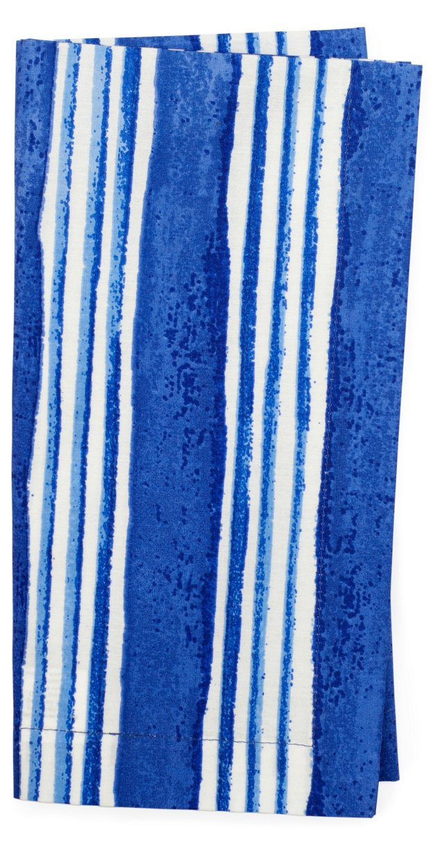 S/4 Large-Stripe Napkins