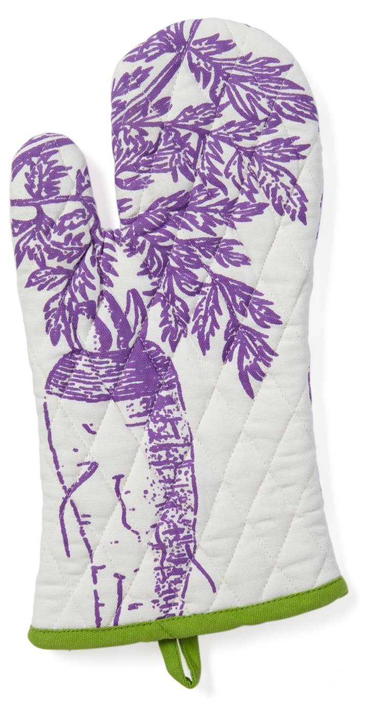 S/2 Veggie Oven Mitts, Purple