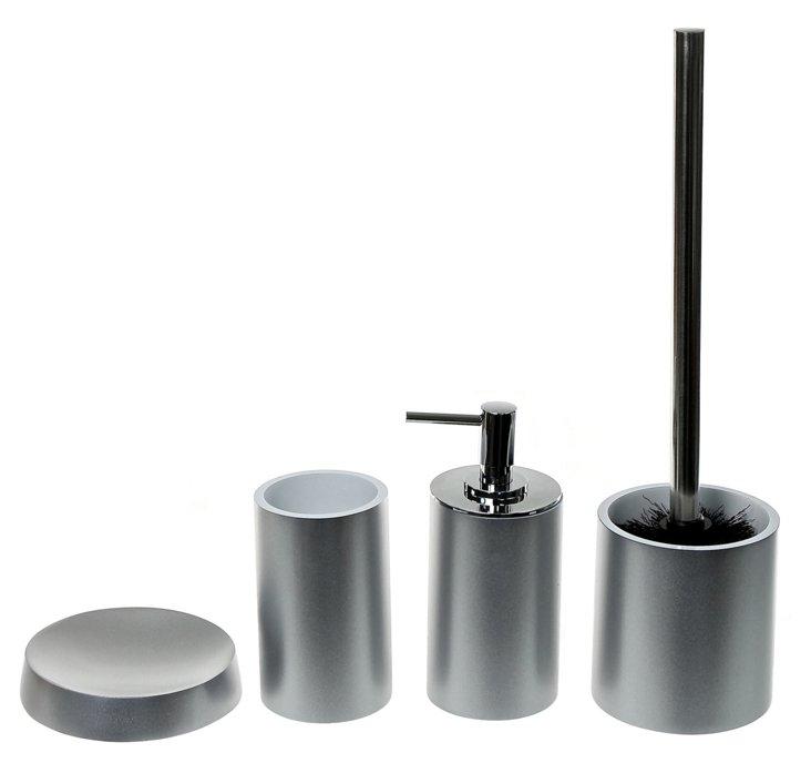S/4 Bathroom Set, Silver