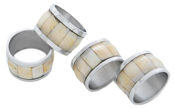 S/4 Mother-of-Pearl Napkin Rings