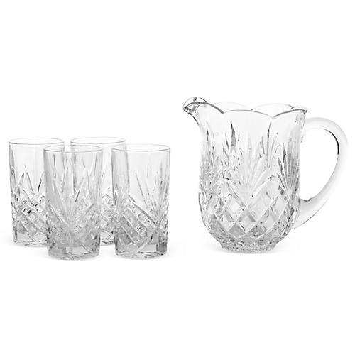 5-Pc Crystal Shannon Drinkware Set