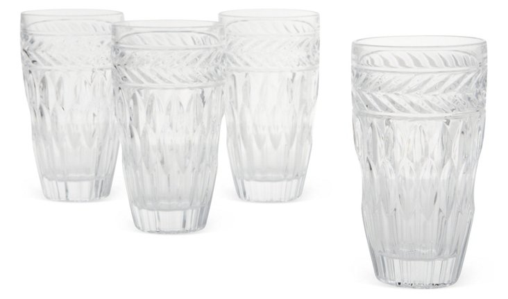S/4 Crystal Symphony Highball Glasses
