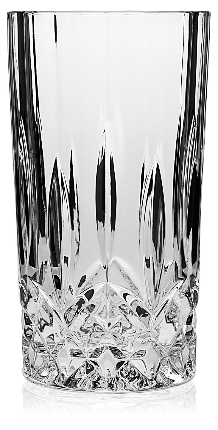 S/4 Crystal Oxford Highball Glasses