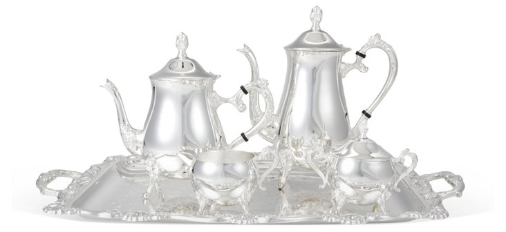 5-Pc Silver-Plated Coffee and Tea Set