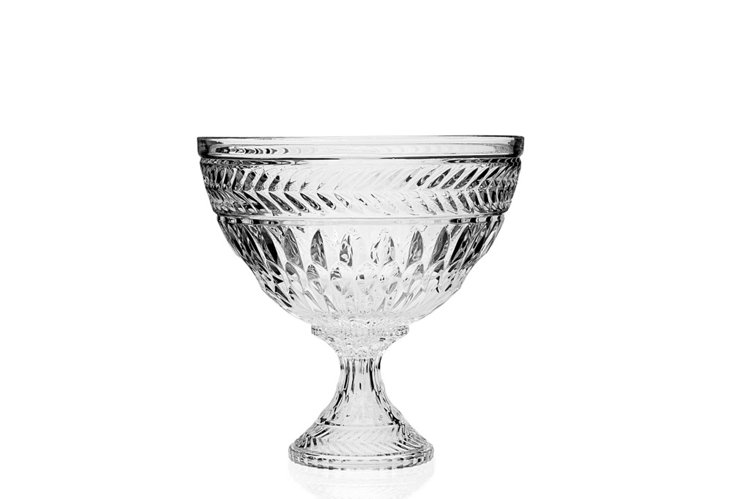 Crystal Symphony Footed Bowl
