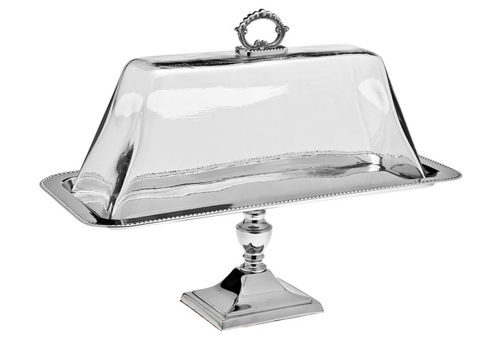 Pedestal Tray w/ Glass Dome
