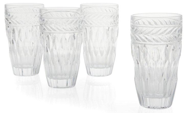 S/4 Symphony Crystal Highball Glasses