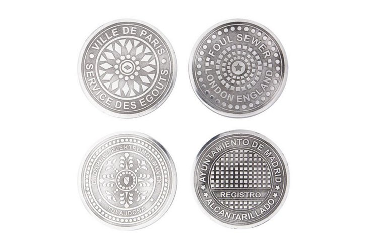 S/4 Assorted Euro Cities Coasters