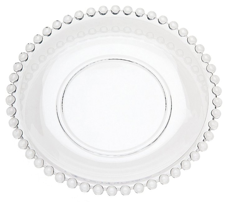 S/4 Chesterfield Dessert Plates, Clear