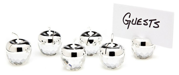 S/6 Apple Place Card Holders