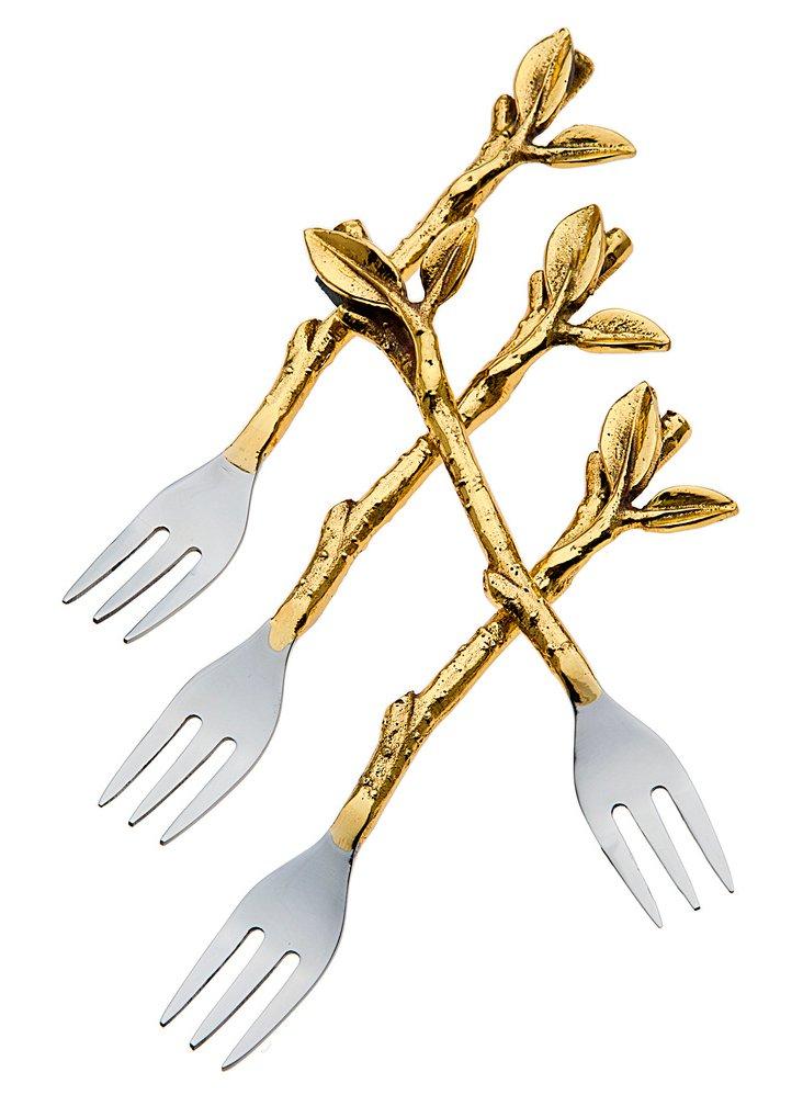 S/4 Leaf Dessert Forks