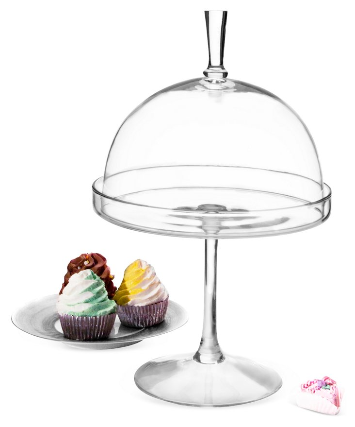 Footed Cake Plate w/ Dome