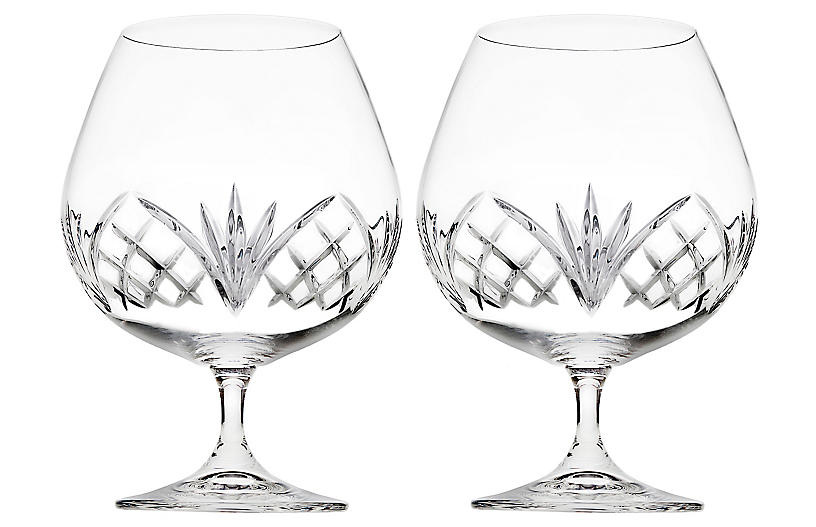 S/2 Dublin Reserve Brandy Snifters, Clear