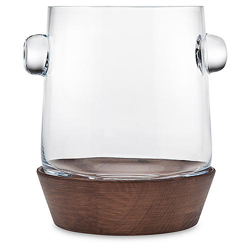 Magnus Ice Bucket, Brown/Clear