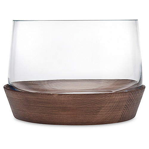Magnus Salad Bowl, Brown/Clear