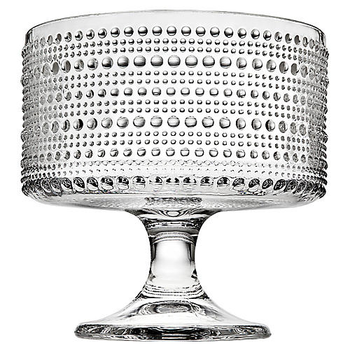 Lumina Footed Serving Bowl, Clear