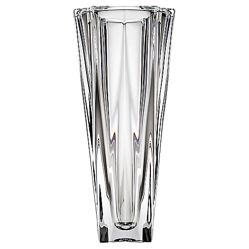 "10"" Mona Crystal Vase, Clear"