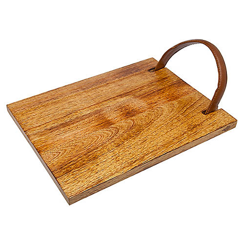 Erin Serving Tray, Brown