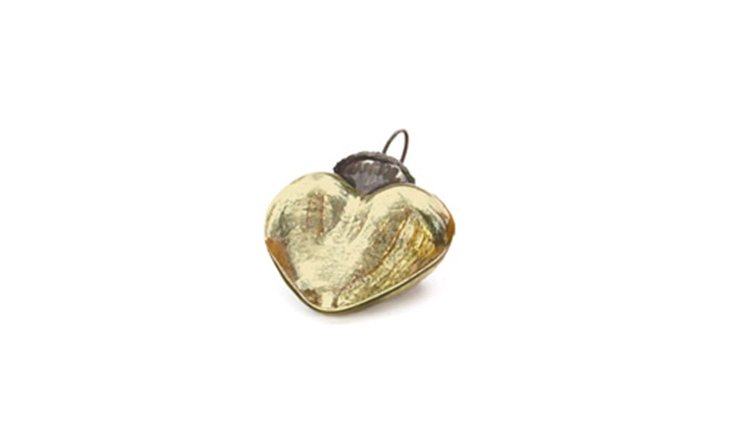 S/9 Smooth Gold Heart Ornaments