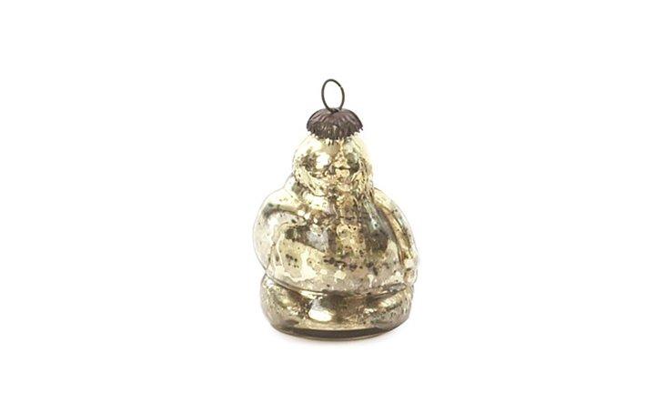 S/9  Gold Santa Ornaments