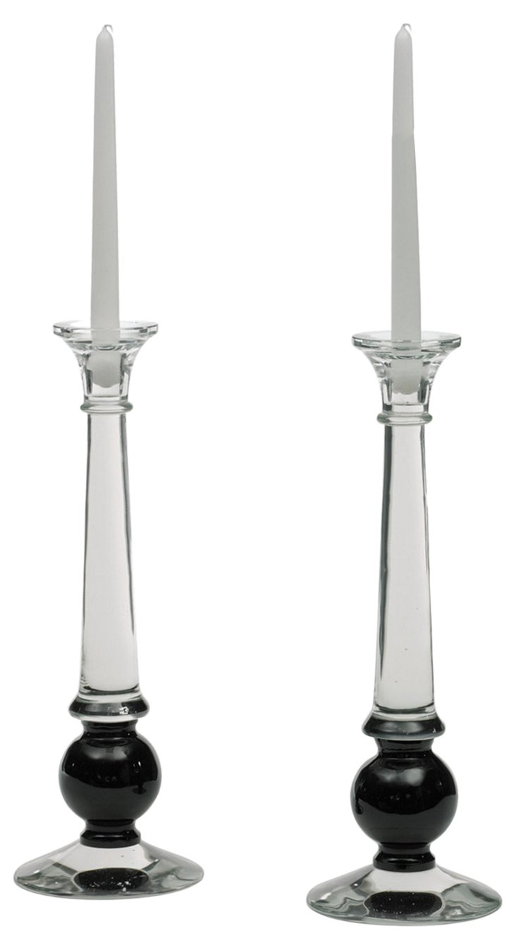 Pair of Sylvester Candlesticks