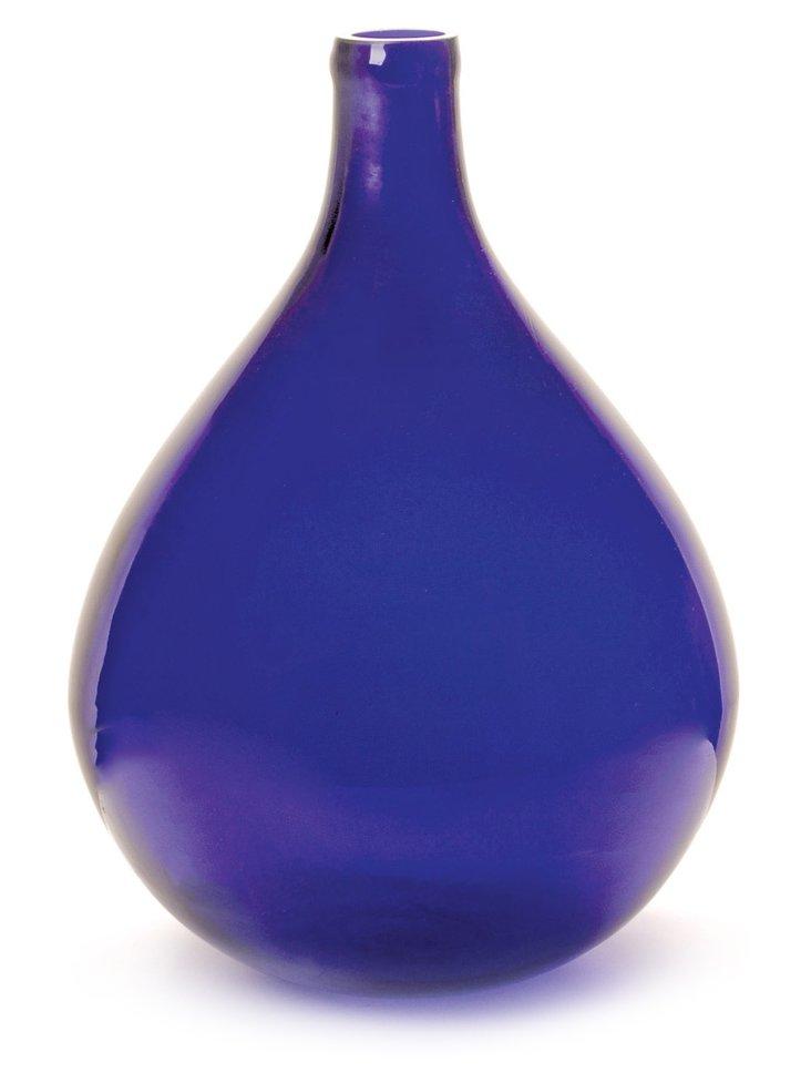 """19"""" Glass Demijohn, Cobalt"""