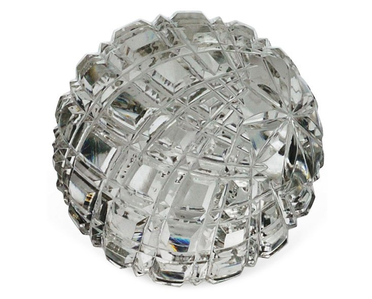 """3"""" Faceted Glass Sphere, Clear"""