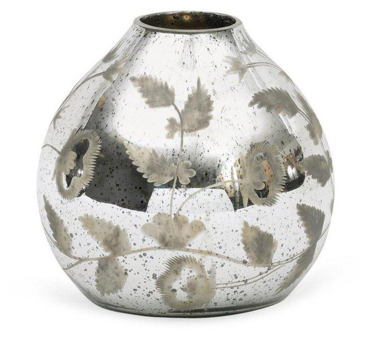 """10"""" Mercury Tulip Vase, Silver"""