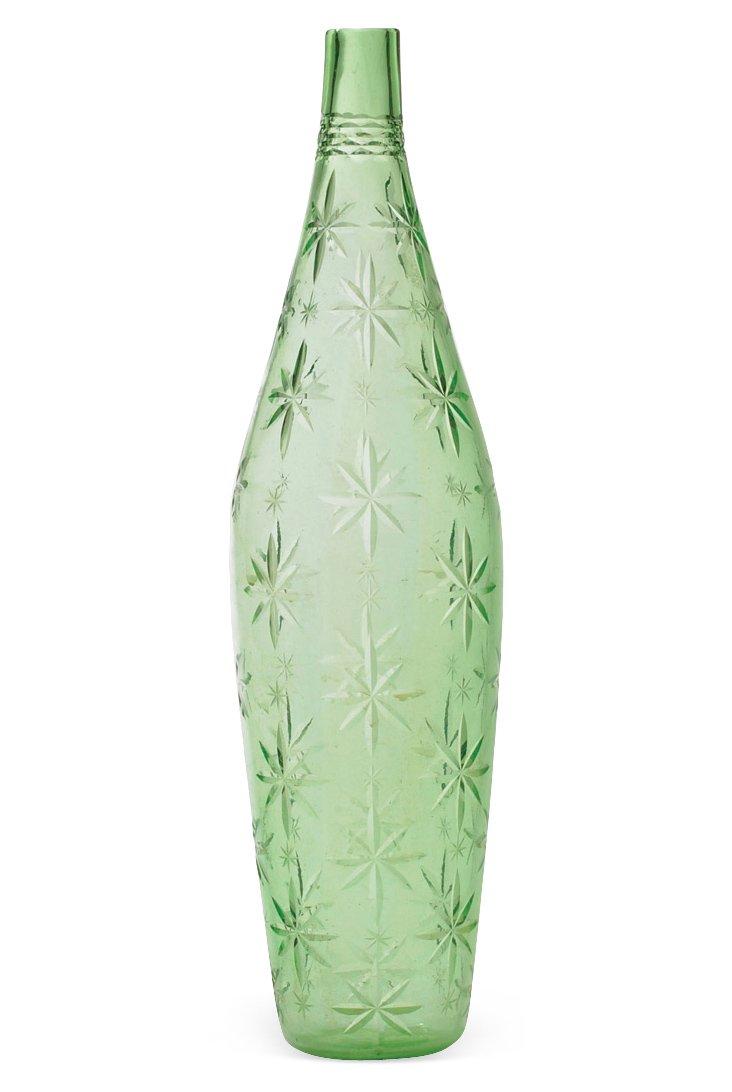 "21"" Starburst Vase, Green"
