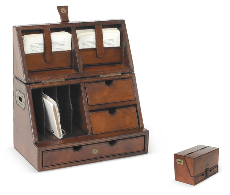 "15"" Secretary Desktop Organizer, Brown"