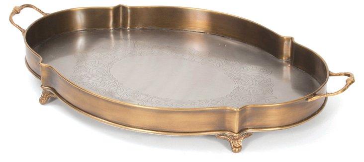 """20"""" Brass Boat Tray"""