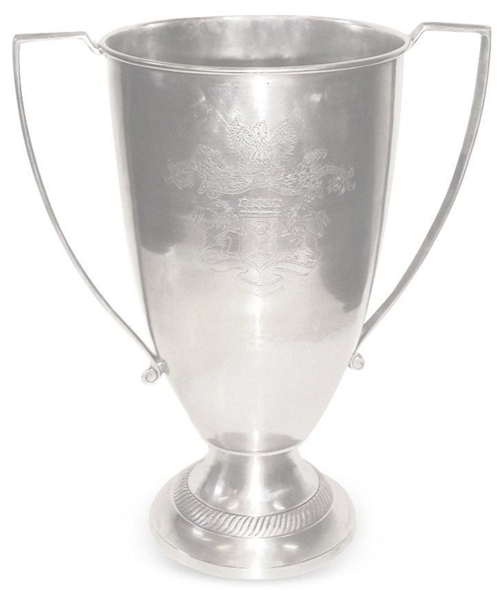 """13"""" Etched Pewter Cup, Silver"""