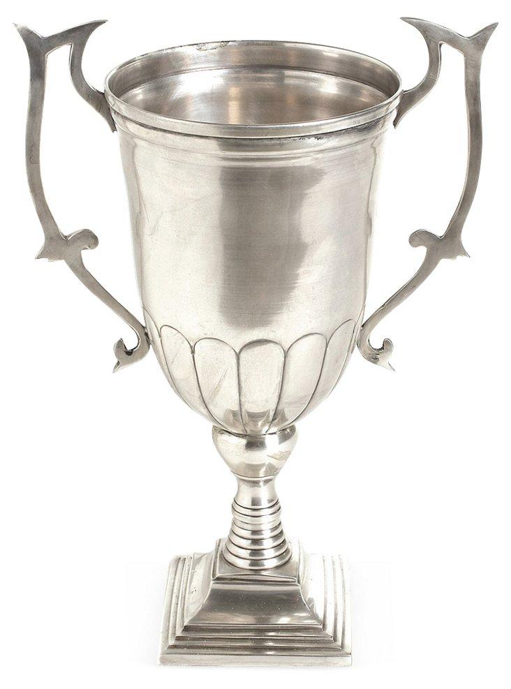"13"" Trophy w/ Handles, Silver"