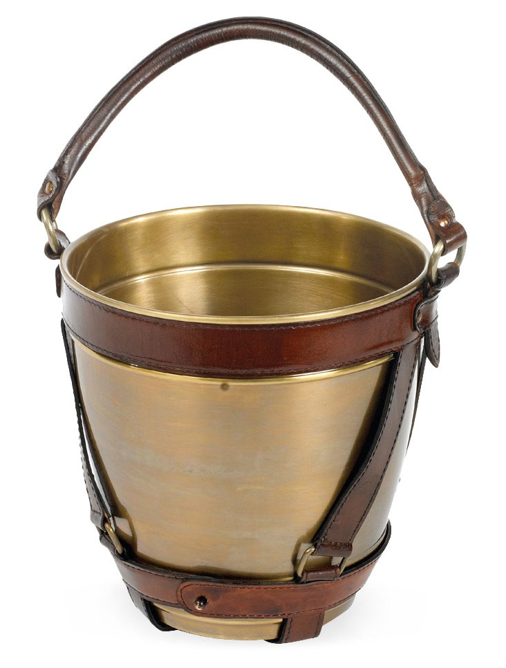 Leather Strap Champagne Bucket