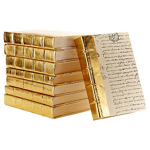 Linear Foot of Books, Metallic Gold