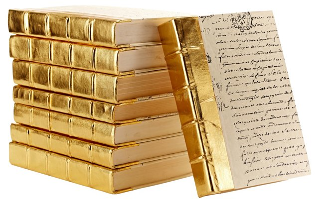 S/10 Metallic Books, Gold