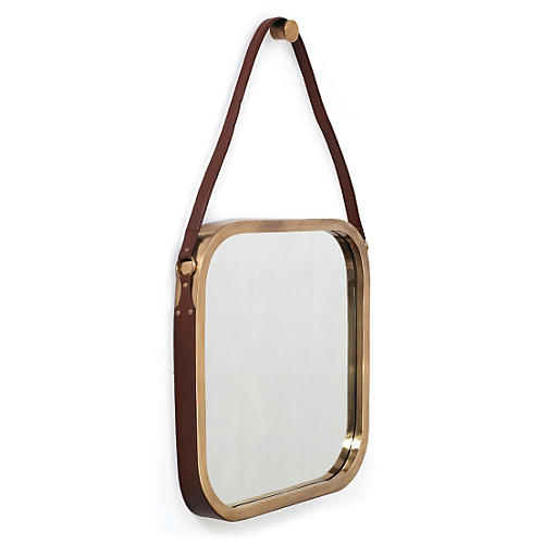 "Constantine 21"" Accent Mirror, Brass"