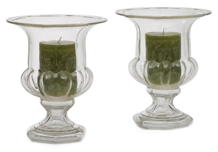 """Pair of 10"""" Breslin Hurricanes, Clear"""