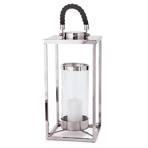 """20"""" Lantern, Silver/Black"""
