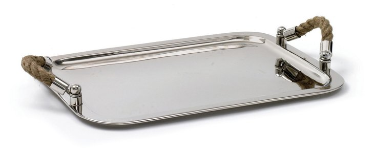 """19"""" Andromede Tray w/ Rope Handles"""