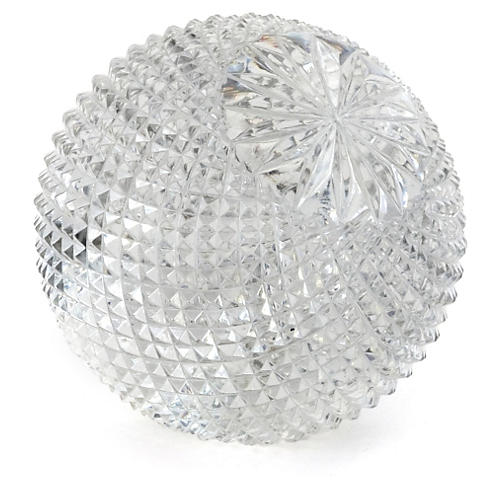 "3"" Cross-Cut Sphere, Clear"