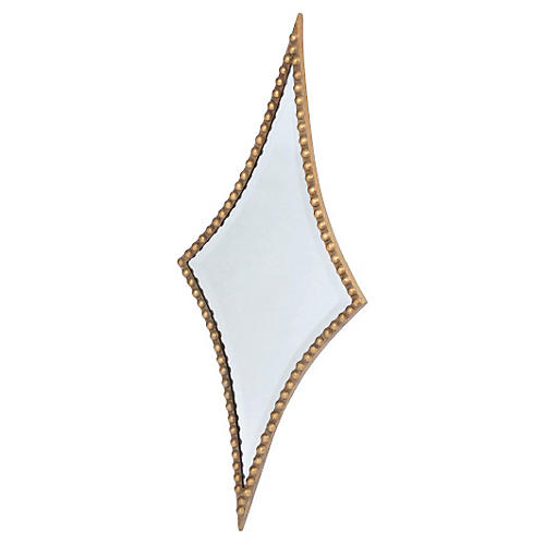 "Raha 15""x36"" Wall Mirror, Gold"