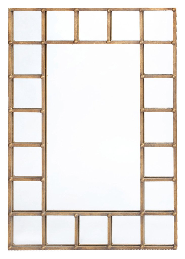 Teddy Oversize Mirror, Gold