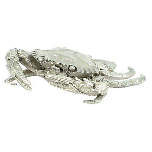 "4"" Crab Figurine, Silver"